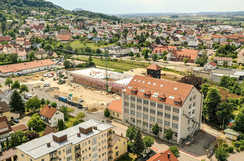 Nahwärme Heubach Stadtbild Vogelperspektive – GEO Energie Ostalb