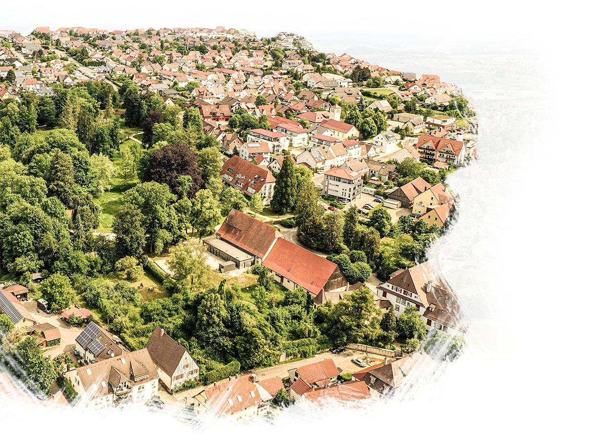 Vogelperspektive Stadt Essingen – GEO Energie Ostalb